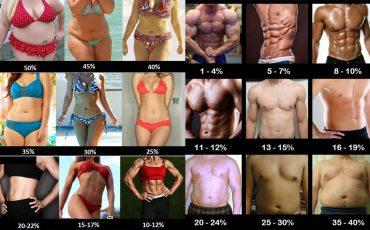 Exemples de bodyfat homme/femme